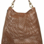 Caged Leather Brown and Black Miu Miu Tote