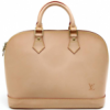 Louis Vuitton Custom Order Natural Leather Alma Bag