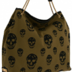 Green and Black Skull Tote