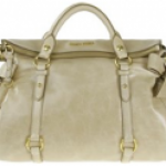 Miu Miu Leather Tote with Bow Detail