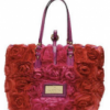 Red and Pink Valentino Garanvani Rose Detail Bag