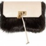 Marc Jacobs Beaver Fur and Calfskin Mouse Clutch
