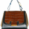 Fendi Croco and Calfskin Tote