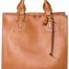 Chloe Grained Vegetable Treated Aurore Tote