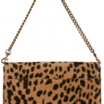Givenchy Evening Leopard Print Lamb Clutch