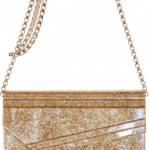 Jimmy Choo Glitter Acrylic Metallic Calf Bag