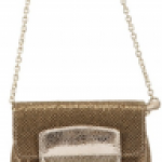 Jimmy Choo Glitter and Metallic calf shoulder bag