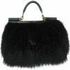 Dolce & Gabbana Miss Sicily Mongolia Fur Tote