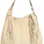 Roberto Cavalli Leather fringed shoulder bag