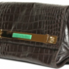 The Borbonese Croco Print Calfskin Clutch is super Hot!