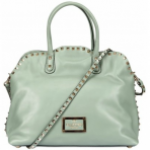 Valentino Dome Studded Brushed Calfskin Tote