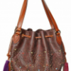 Etro Multicolour Studded Jacquard Shoulder Bag