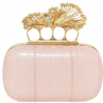Alexander McQueen Real Pearl & Watersnake Box Clutch