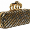 Alexander McQueen Gold Ring Knuckle Box Clutch
