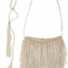 Ann Demeulemeester Silk Fringed shoulder bag