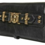 Balmain Delphine Bullhead Leather Clutch