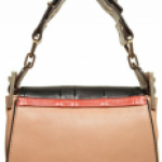 The unusual patchwork Chloe Jade wide strap mini shoulder bag