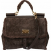 Dolce & Gabbana Suede Shearling Miss Sicily Tote