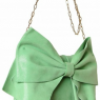 Red Valentino Laminated Leather Bow Shoulder Bag