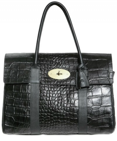 Mulberry bayswater Croc Choc Mulberry Bayswater