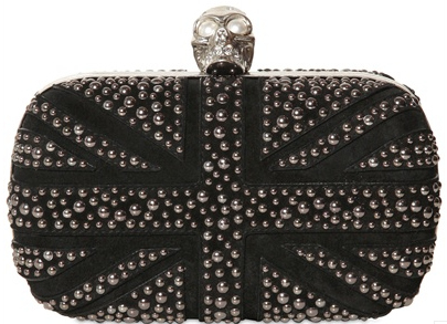 Screen Shot 2013 04 21 at 19.55.49 Silver Alexander McQueen Skull Box Clutch