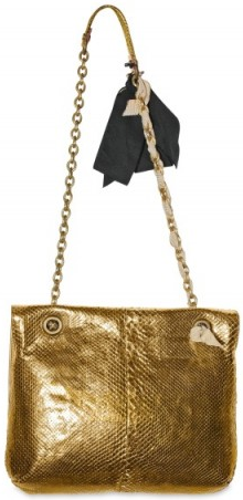 lanvin happy pythn shoulder handbag Lanvin Happy Python Metallic Shoulder Bag