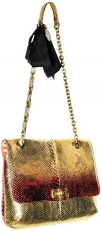 lanvin happy python Lanvin Happy Python Metallic Shoulder Bag
