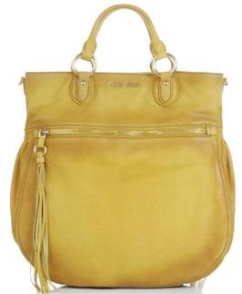 miu miu suede shopping bag1 Miu Miu Suede Shopping Bag