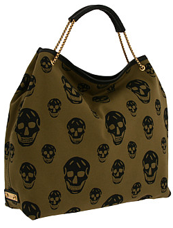 Alexander mcqueen skull tote Green and Black Skull Tote
