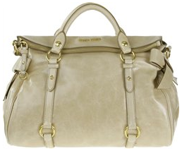 MIU MIU BOW TOTE Miu Miu Leather Tote with Bow Detail