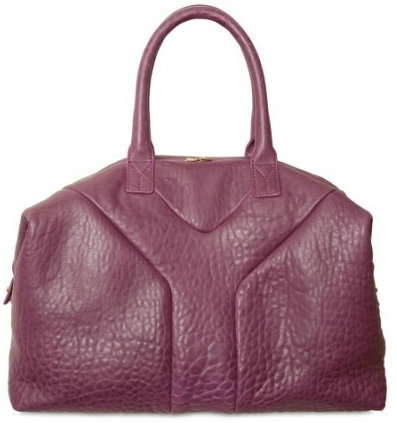 Yves Saint Laurent bag maroon Yves Saint Laurent Leather Zip Bag
