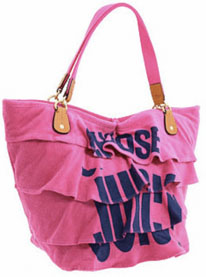 Juicy Couture Terry Beach Generation Y Ruffle Tote | Designer Handbags