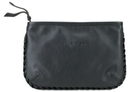 kate moss for longchamp black trousse cosmetique makeup bag Kate Moss for Longchamp Calfskin Cosmetic Bag
