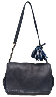 lanvin leather pom pom bag Lanvin Navy Blue Pom Pom Bag
