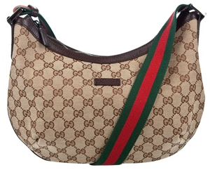 Gucci Monogrammed Canvas Shoulder Bag Gucci Monogrammed Canvas Shoulder Bag