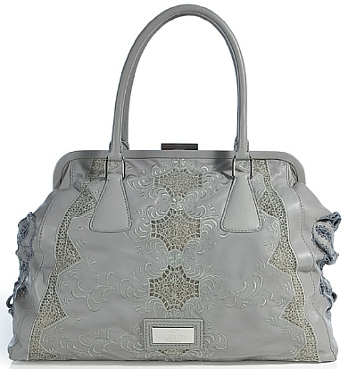 Valentino Soft Grey Embroidered Bag Valentino Soft Grey Embroidered Bag