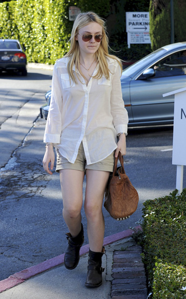 dakota fanning rocco Rocco Brown Mini Duffel Bag
