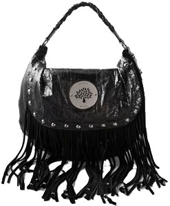 mulberry daria black fringes Mulberry Daria Shoulder Bag with fringe