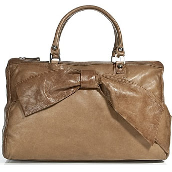 valentino camel bow bag Valentino Caramel Bow Embellished Bag