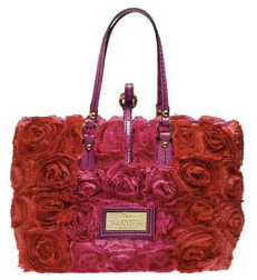 valentino garanvani rose detail bag Red and Pink Valentino Garanvani Rose Detail Bag