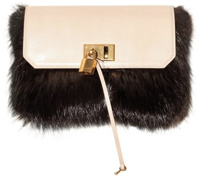Marc Jacobs Beaver Fur and Calfskin Mouse Clutch Marc Jacobs Beaver Fur and Calfskin Mouse Clutch