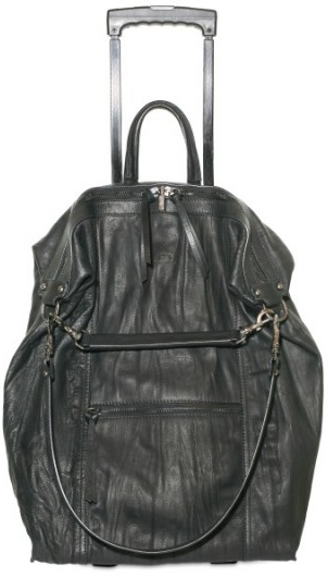 Elena Ghisellini Distressed Calfskin Trolley Luggage Elena Ghisellini Distressed Calfskin Trolley Luggage