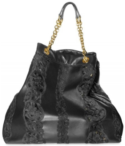 Dolce Gabbana Nappa and Lace Tote1 Dolce & Gabbana Nappa and Lace Tote