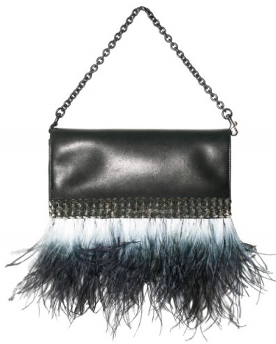 Givenchy Studs and Feather Clutch Givenchy Studs and Feather Clutch