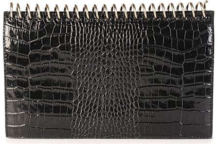 Alexander Wang Amber Note Book Moc Croc Clutch Amber Note Book Moc Croc Clutch
