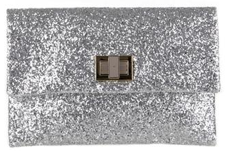 Anya Hindmarch Valorie Silver clutch Anya Hindmarch Valorie Glitter Clutch
