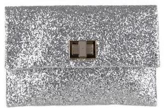 Anya Hindmarch Valorie Silver clutch Anya Hindmarch Valorie Glitter Clutch