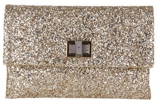 Gold Anya Hindmarch Glitter Clutch Anya Hindmarch Valorie Glitter Clutch