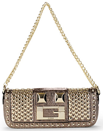 Guess Noir Metallic Crackled Bag Guess Noir Metallic Crackled Bag