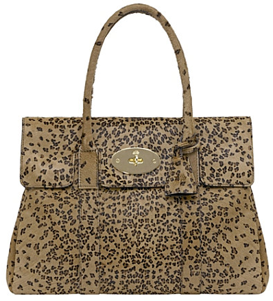 Mulberry Camel leopard haircalf Bayswater tote Mulberry Camel leopard haircalf Bayswater tote